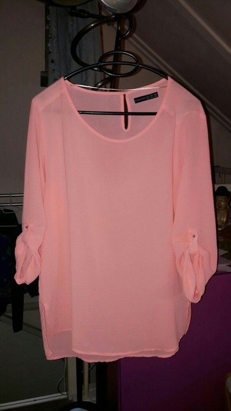 Perzik roze blouse top