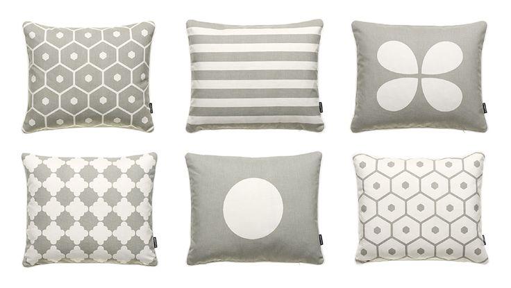 AUTUMN NEWS 2014, Cotton Cushions in Warm Grey! HONEY + LISA + AKI + MARRE + VERA, Pappelina