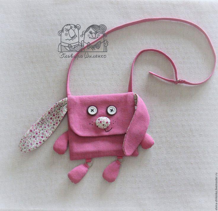 """Купить Сумочка """"Зайчик"""" - однотонный, зайчик, сумочка, сумочка для девочки, аксессуары ручной работы, розовый"""