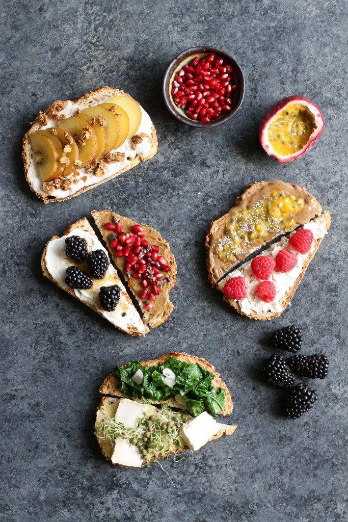 Vegan Toast 7 Ways without Avocado