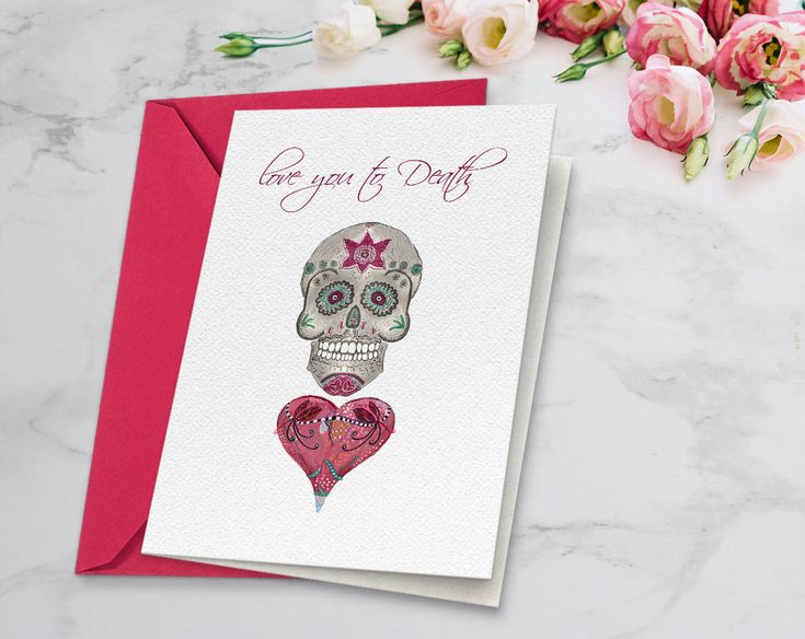 Excited to share the latest addition to my #etsy shop: Valentines card #Skull and red #heart with song lyrics, Love you to death, Valentines card for her, Instant download, Diamonds Skull, diy card http://etsy.me/2EvestM #papergoods #anniversary #valentinescard #lyrics