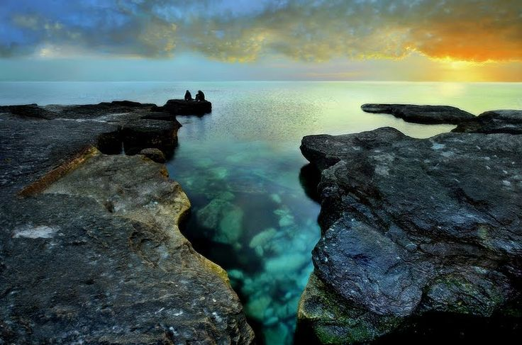 """Aktau. Caspian Sea. Sunset.""; Aktau, Kazakhstan; by ElenaMetzlof on Panoramio"