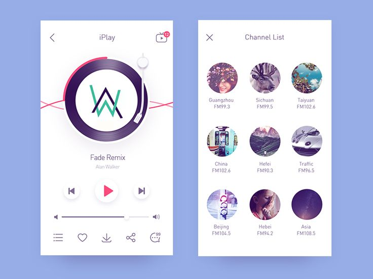 App-radio6 by Rwds #Design Popular #Dribbble #shots