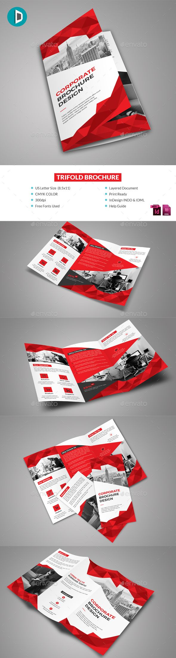 Template Formal Letter%0A Trifold Brochure