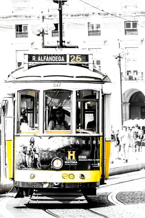 ARTFINDER: THE LEGENDARY YELLOW TRAM II by Victor de Melo - Lisbon is a very pleasant city to visit on foot, but travelling by tram throughout the old alleys,  it's an experience you'll never forget. The tram is one o...