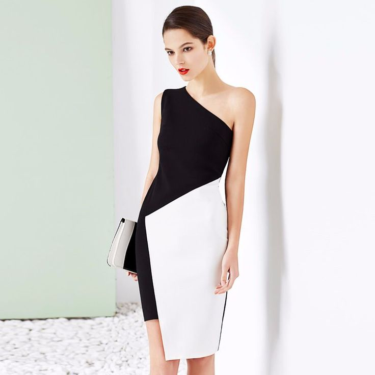 Black White Patchwork Slim Bodycon Women Dresses http://mobwizard.com/product/2016-summer-black-wh32660419780/