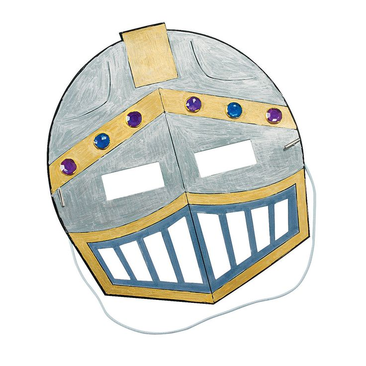 Color Your Own Knight's Mask Craft Kit - OrientalTrading.com