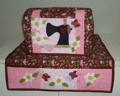 Capa e tapete para máquina de costura