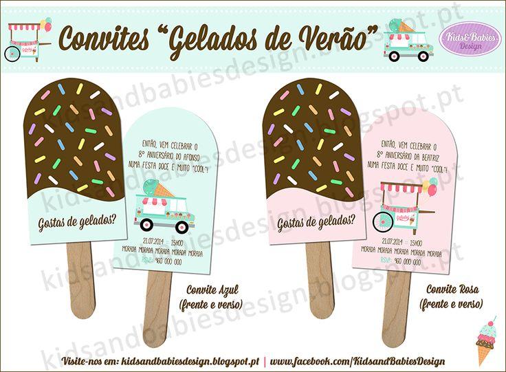 Party Printables :: Gelados de Verão :: Convites by Kids&Babies Design