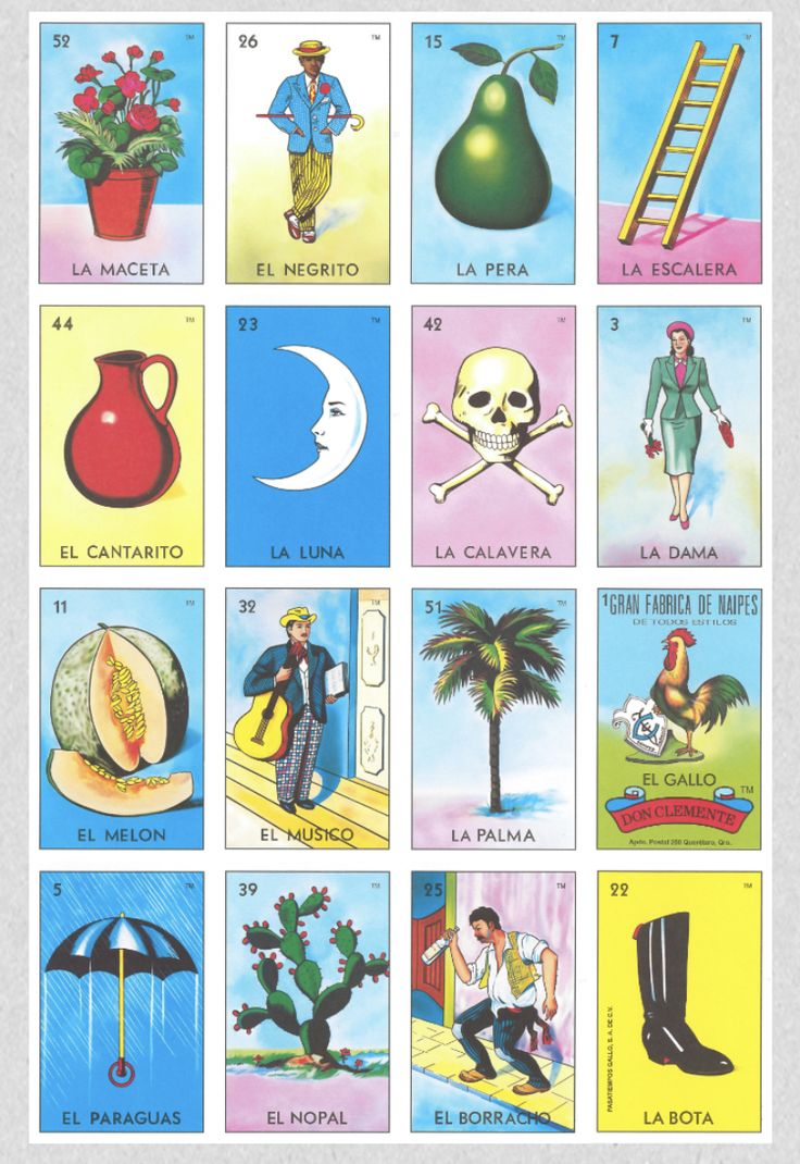 Buenas Original Loteria Card in 2020 Loteria cards