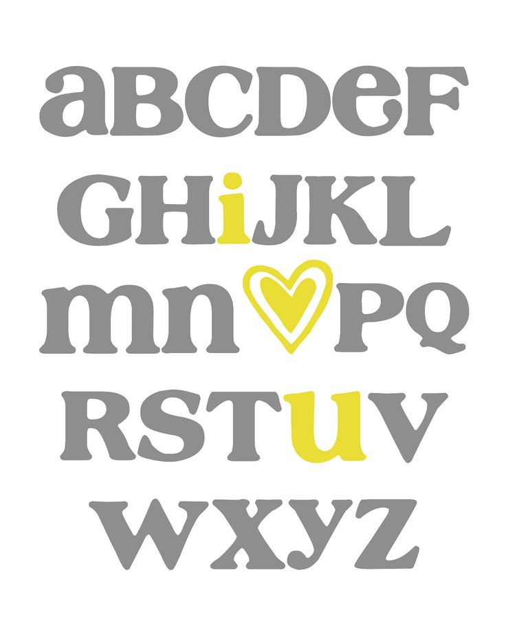 ABC Alphabet Art  I Love You  Digital Nursery by MyPoshDesigns, $6.00