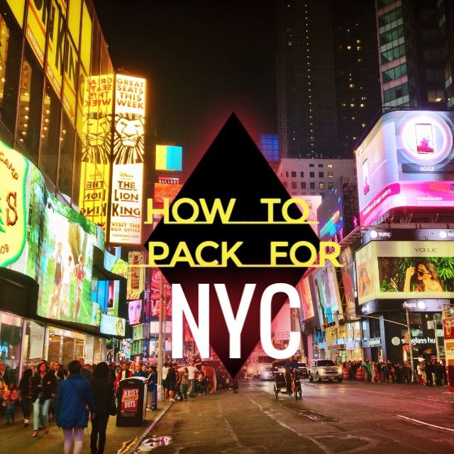 Great travel tips for when you're packing for a trip to New York City in the Spring!!