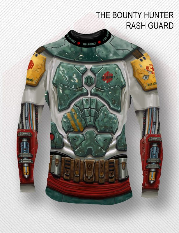 The Bounty Hunter Long Sleeve Rash Guard | Red Journey | Jiu Jitsu Gis and Belts