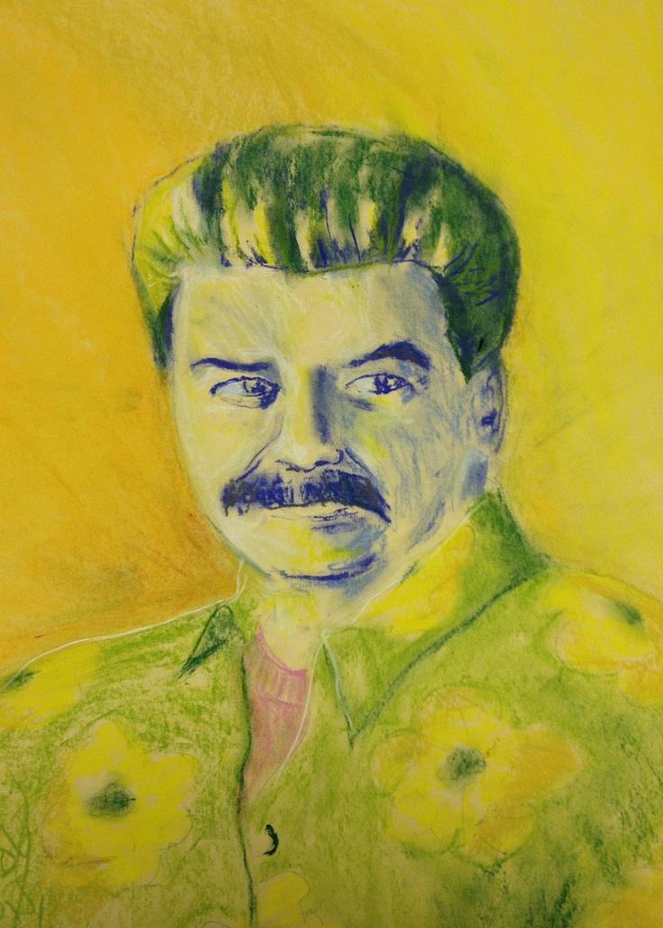 """""""Yosef II"""" by Sandy Lawson (c) 2013. pencil crayon and chalk. 24"""" x 18"""""""