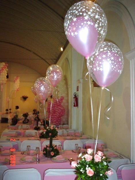 Centros de Mesa globos balloon centerpieces