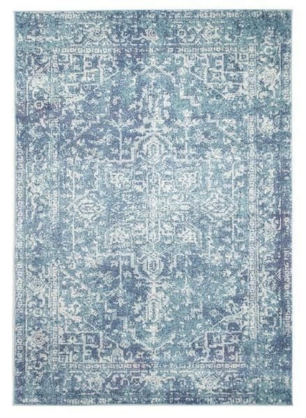 The Madrid Transitional Blue Designer Rug is a beautiful patterned transitional rug: