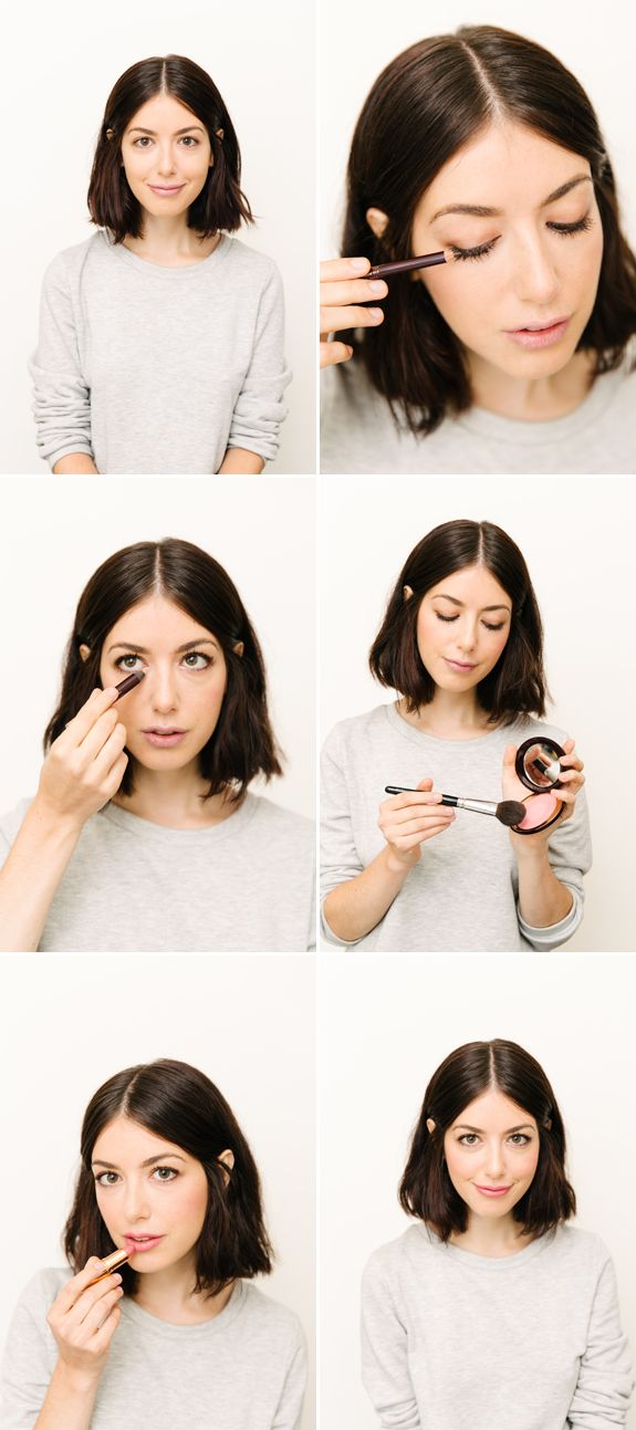 A fresh, natural look using Charlotte Tillbury cosmetics from Nordstrom, including the perfect pink lipstick for everyone. So beautiful! // cup of jo