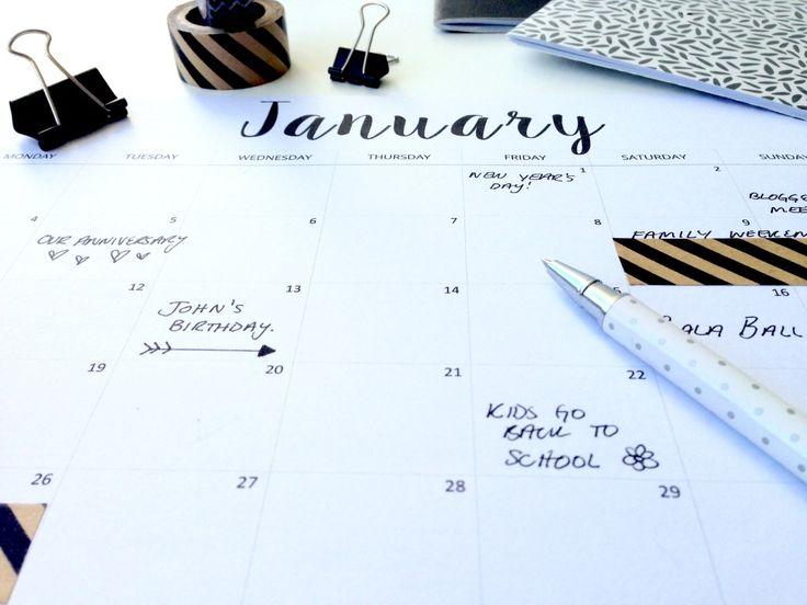 Kalender zum Ausdrucken für