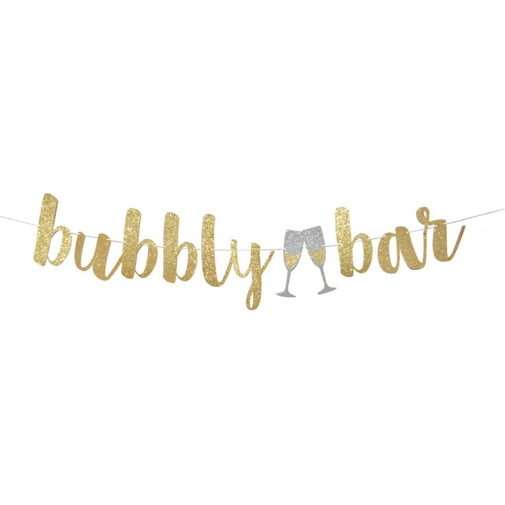 Bubbly Bar Sign | Bachelorette Party Decoration | Bachelorette Banner | Bridal Shower