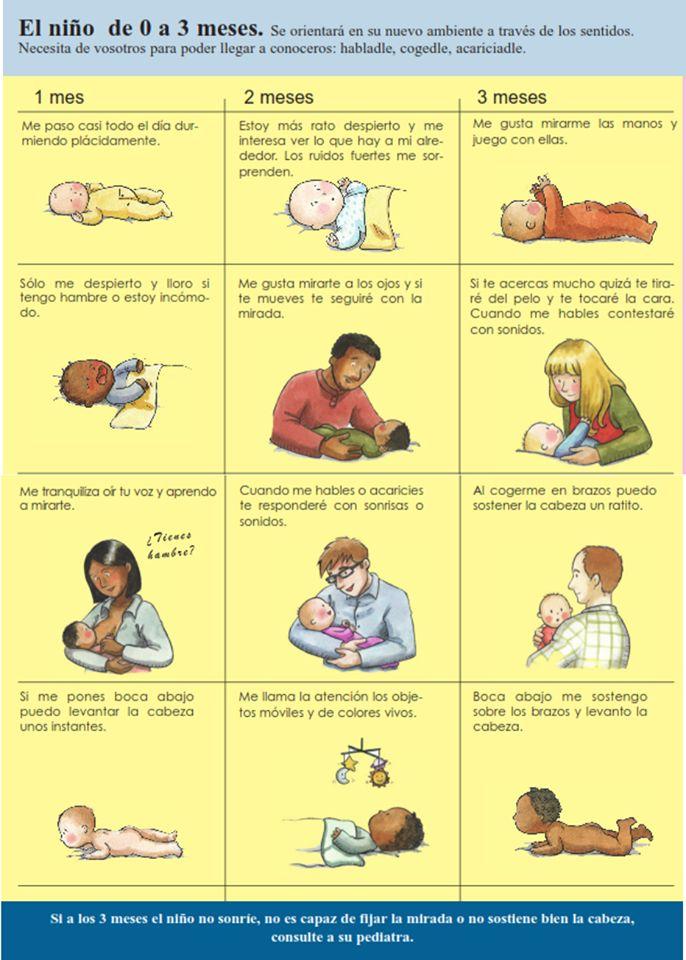 desarrollo del niño de 0 a 3 meses