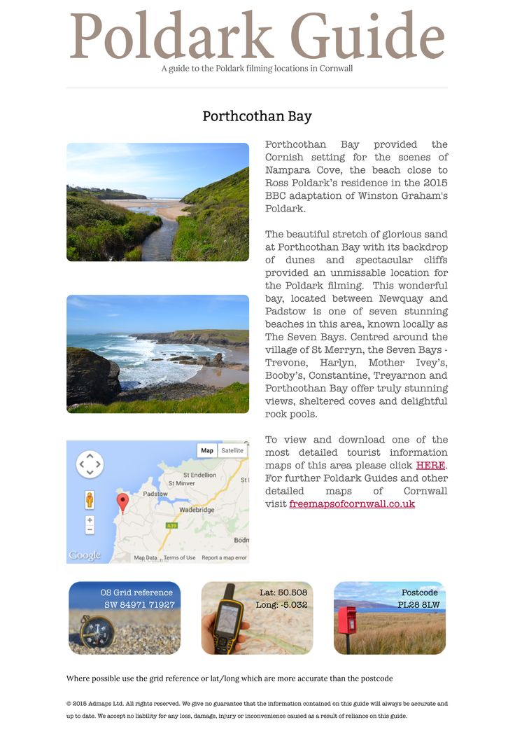 Porthcothan Bay - Poldark 2015 Filming Locations - Photos, description and directions