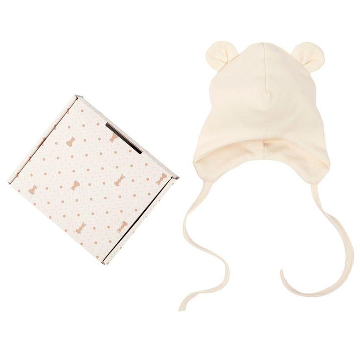 Cena: 58.00zł. Eksresowa wysyłka od ręki. CZAPECZKA DZIECIĘCA Z USZKAMI - ECRU łotewskiej firmy... więcej na www.Tublu.pl #newborn #baby #clothing #clothes #organic #eco