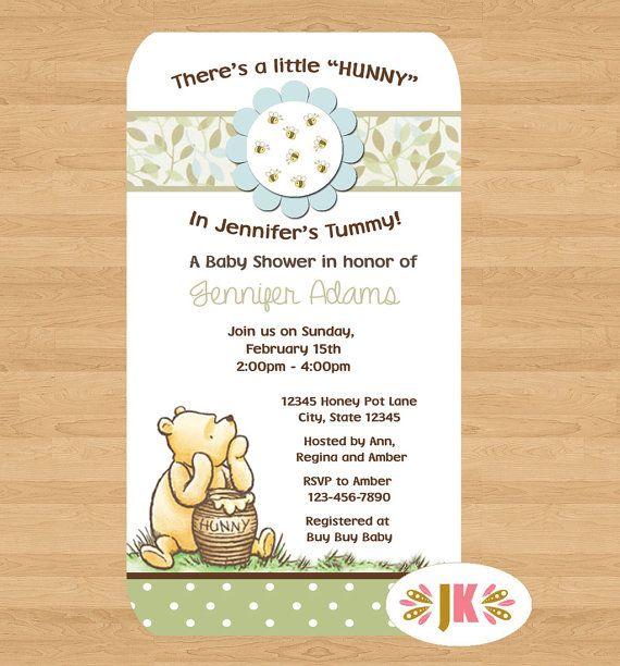 Classic Winnie the Pooh Baby Shower Printed by JuKaDesignz