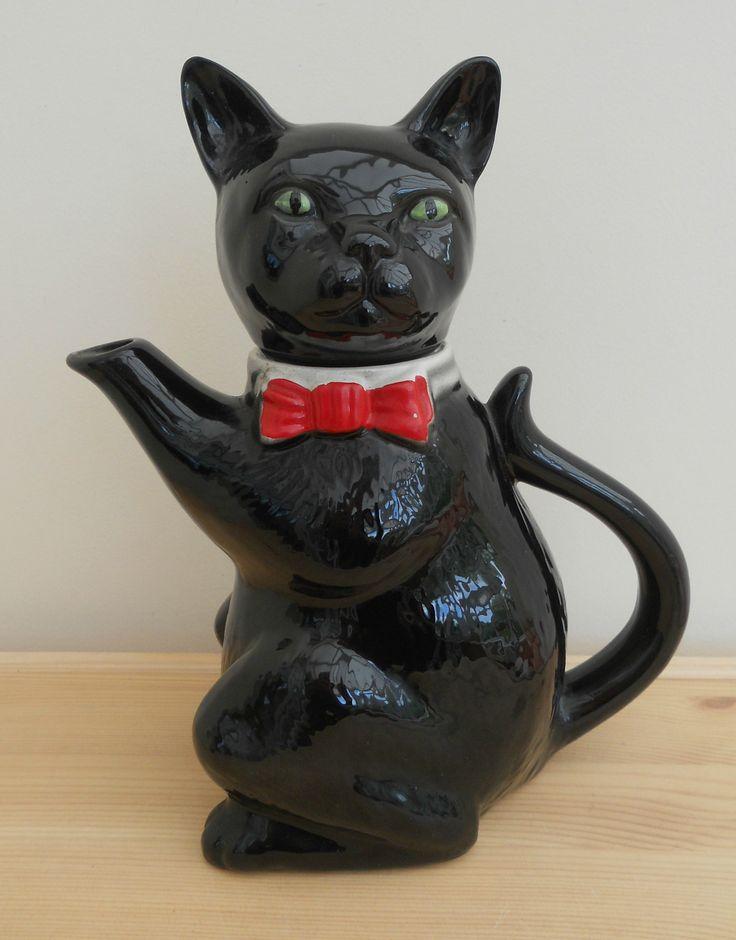 TONY WOOD BLACK CAT TEA POT ~ NOW ON MY EBAY SITE LUBBYDOT1