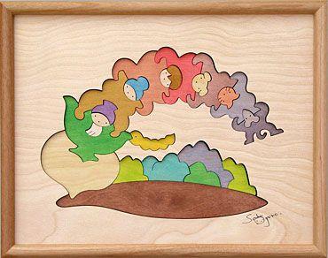 組み木 木のおもちゃ 『遊プラン』 KP153   大きなカブ