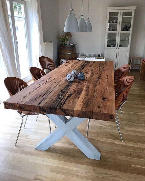 Massivholztisch Esstisch Eichenholz Altholz Holzwerk Hamburg Outdoorwood Wood Dining Table Wooden Dinner Table Oak Dining Table