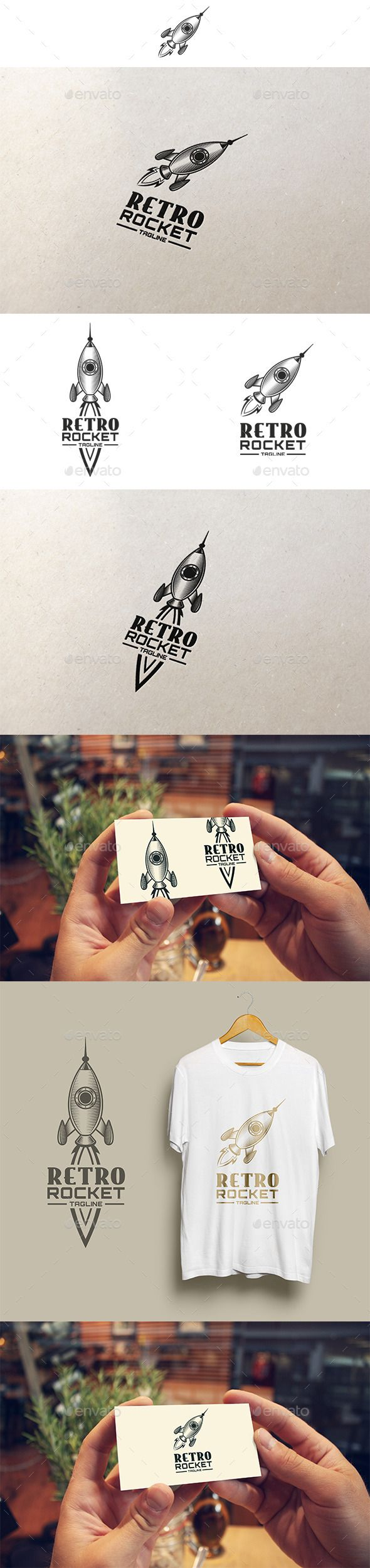 Retro Rocket Logo — Vector EPS #vintage #retro • Download ➝ https://graphicriver.net/item/retro-rocket-logo/12447983?ref=pxcr