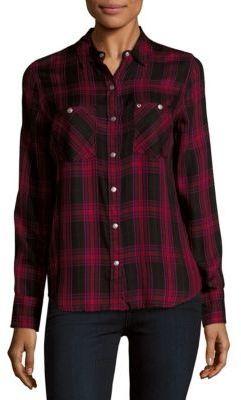 True Religion Button-Down Plaid Shirt