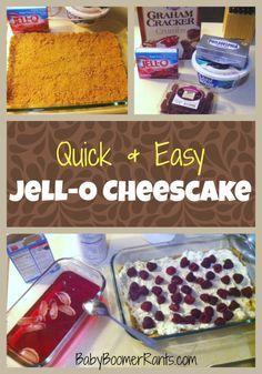 Quick & Easy Jell-O Cheesecake Recipe