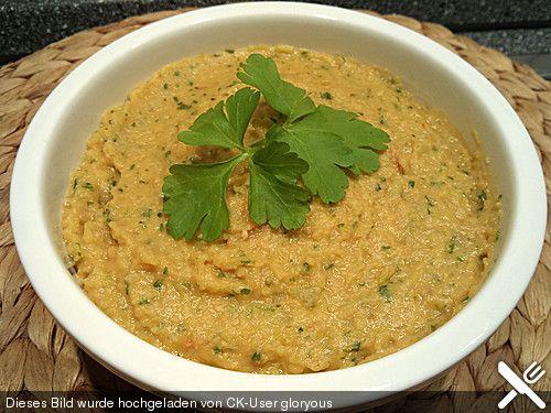 Kichererbsen - Zwiebel Aufstrich, ein raffiniertes Rezept aus der Kategorie Vegetarisch. Bewertungen: 16. Durchschnitt: Ø 3,9.
