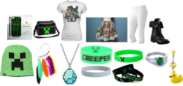 """""""Minecraft Outfit!!!!"""" by the-chains-can-be-broken ❤ liked on Polyvore"""