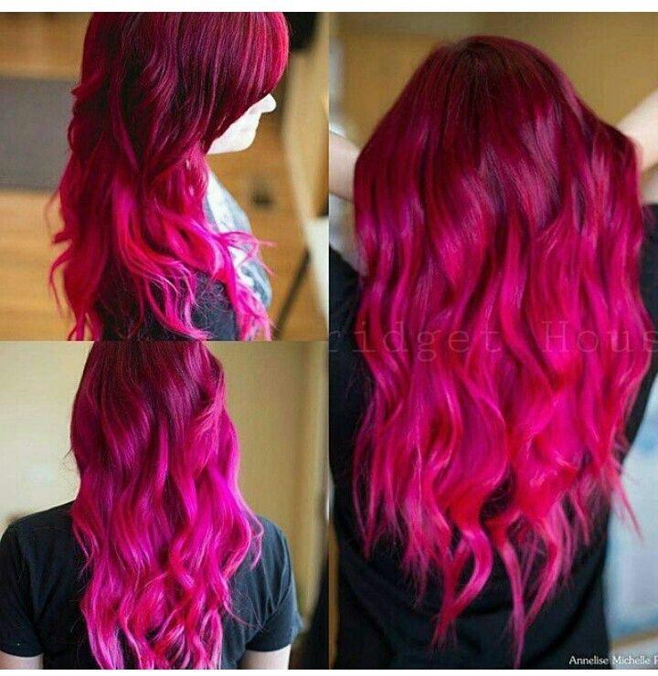 Gorgeous fuschia hair