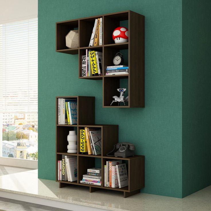 Manhattan Comfort Cascavel Stair Cubbies Bookcase