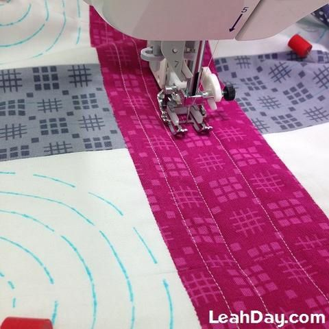 Machine quilting easy design with walking foot