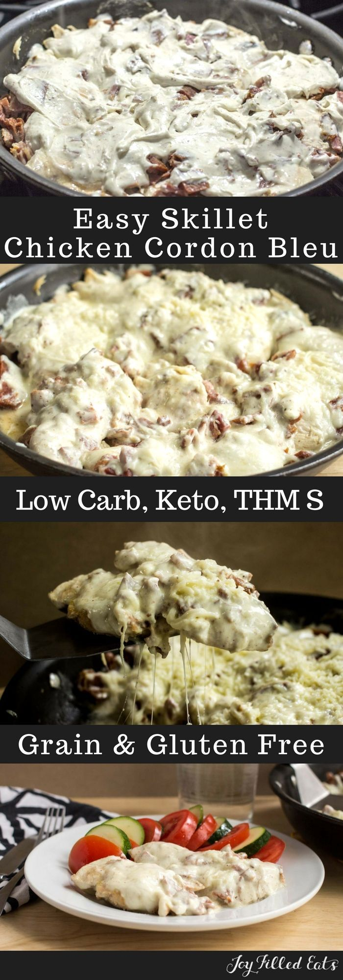 Easy Skillet Chicken Cordon Bleu Low Carb Keto Grain Gluten Free