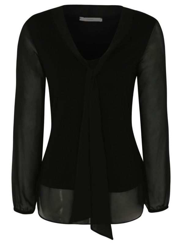 Black pussy bow top, 10.00 GBP, George.
