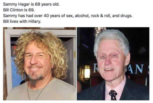 Sammy Hagar + Bill Clinton