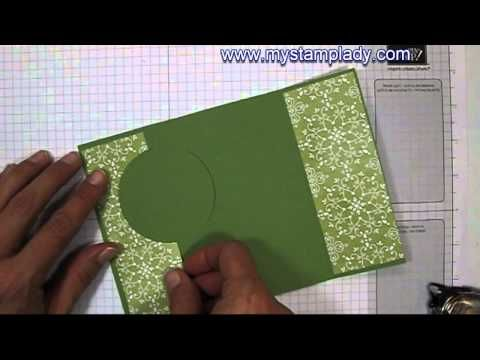 See how to make an extended flip card with the Circle Card Thinlit Die from Stampin' Up! www.mystamplady.com