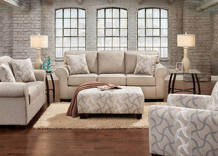 Compel smoke is a contemporary silhouette with three-over-three back and seat configuration, boxed cushions, and decorative accent pillows. Rolled arms with wel