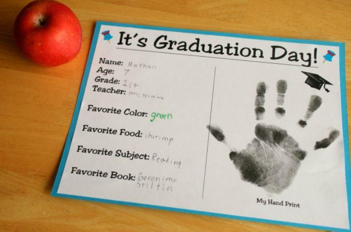 Kid Graduation Certificate Craft Idea School Pinterest