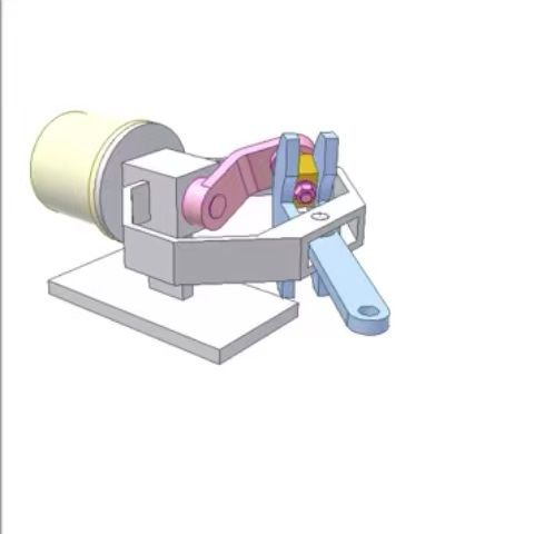 "CAD gif on Instagram: ""Oblique crank - rocker mechanism"
