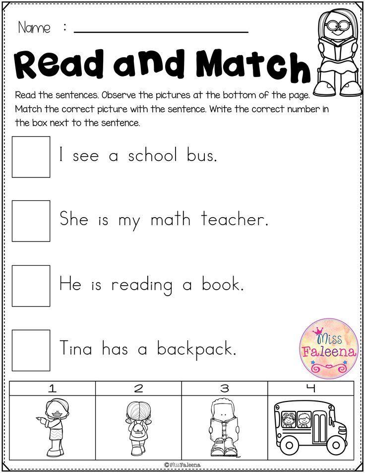 Free Reading Activities For Beginning Readers Kindergarten Resources Teaching Reading Reading Activities Reading is fun worksheet