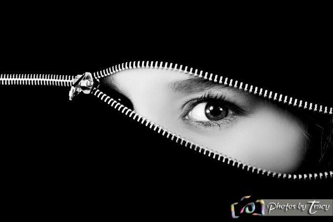 #Model #zip #eye #mysterious #beautiful