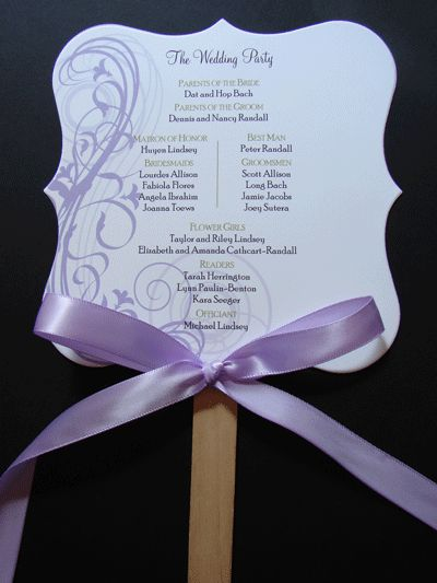 Customized Wedding Programs, Place Cards, Table Cards & Menus. Vintage, Modern & Traditional