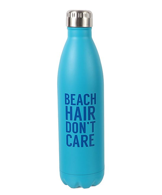 'Beach Hair Don't Care' 25-Oz. Stainless Steel Water Bottle