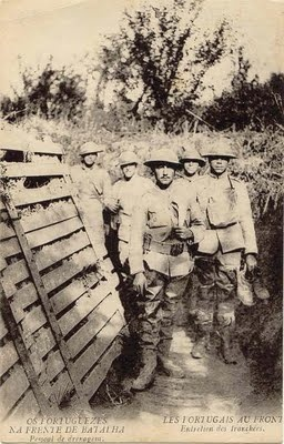 Portuguese soldiers at the front